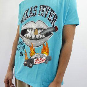 Camiseta Crazy Sect - ACAB turquesa