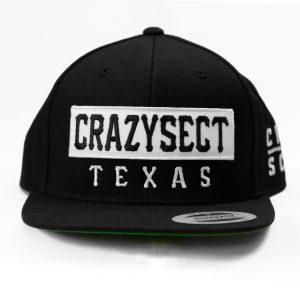Gorra Crazy Sect Texas negra