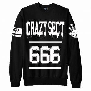 Sudadera Crazy Sect - 666 negra