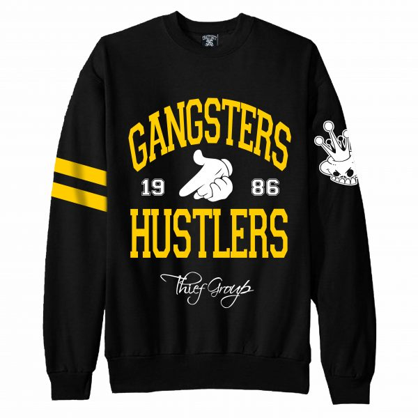 Sudadera Crazy Sect - GANGSTERS & HUSTLERS negra